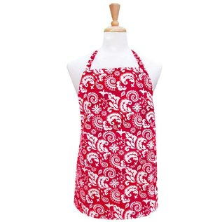 Two Lumps of Sugar Utility Apron Mod Damask Red