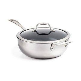 Zwilling J.A. Henckels ZWILLING Spirit 3-ply Stainless Steel Ceramic Nonstick 4.6 Qt Perfect Pan with Glass Lid