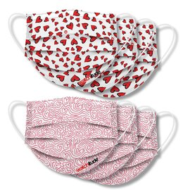 Watchitude Watchitude Face Masks Hearts + Maze  6 pack