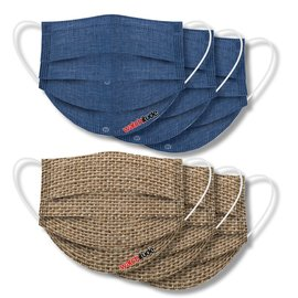 Watchitude Watchitude Face Masks Burlap + Blue Linen 6 pack