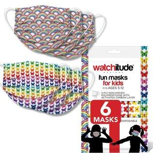 Watchitude Watchitude Kid Face Masks Rainbow Playground + Butterfly  6 pack