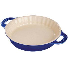 "Staub Staub Ceramic Pie Dish 9"" Dark Blue"