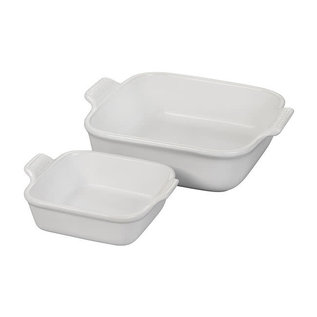 Le Creuset Le Creuset Heritage Square Dishes set of 2 White