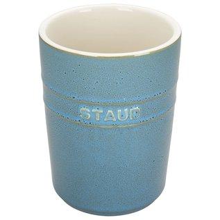 Staub Staub Ceramic Utensil Holder Rustic Turquoise
