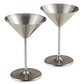 OGGI OGGI Stainless Steel Martini Goblets 10 oz Set of 2
