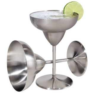 OGGI OGGI Stainless Steel Margarita Goblets 12 oz Set of 2