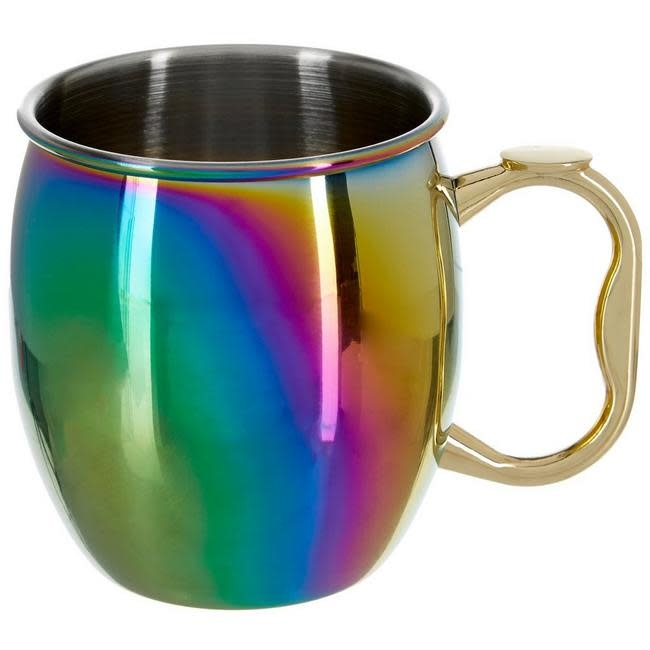 Oggi Moscow Mule Mug Stainless Steel With Rainbow Finish 20 Oz Murphy S Department Store
