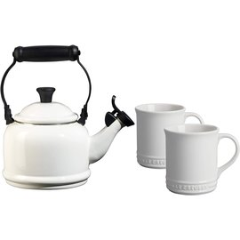 Le Creuset Le Creuset 1.25 Qt Demi Kettle & 2 Mug Set White