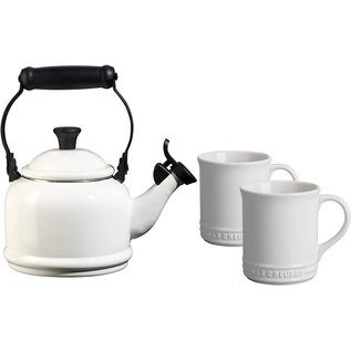 Le Creuset Le Creuset 1.25 Qt Demi Kettle & Mugs 3 pc Set White