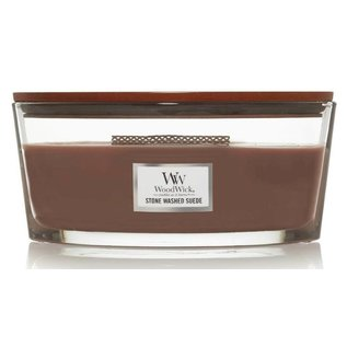 WoodWick Candle WoodWick Candle Ellipse Hearthwick Stone Washed Suede