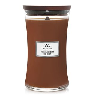 WoodWick Candle WoodWick Candle Large Stone Washed Suede