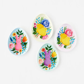 One Hundred 80 Degrees One Hundred 80 Degrees Peeps Egg Shaped Melamine Plate 7 inch Assorted Sold Individually