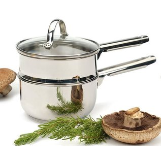 RSVP RSVP Stainless Steel Double Boiler 2 Qt Induction