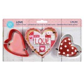 R&M Love 3 pc Color Cookie Cutter Set