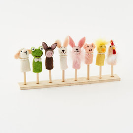 One Hundred 80 Degrees One Hundred 80 Degrees Wool Easter Finger Puppet Assorted Sold Individually