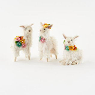 One Hundred 80 Degrees One Hundred 80 Degrees Wool Flower Llama 4.25 inch - 5.5 inch Assorted