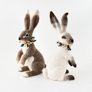 One Hundred 80 Degrees One Hundred 80 Degrees Felt, Styrofoam Standing Bunny 22 inch Assorted