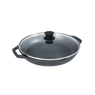 Lodge Cast Iron Lodge Chef Collection Cast Iron Everyday Pan 12 inch w Tempered Glass Lid
