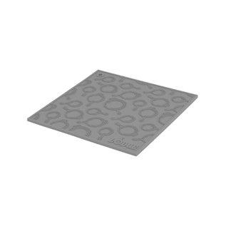 Lodge Cast Iron Lodge Silicone Trivet w Skillet Pattern 7 inch Square Black