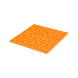 Lodge Cast Iron Lodge Silicone Trivet w Skillet Pattern 7 inch Square Orange