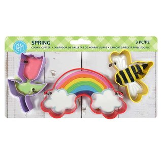R&M Spring 3 pc Color Cookie Cutter Set