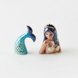One Hundred 80 Degrees One Hundred 80 Degrees Ceramic Mermaid Salt & Pepper 3 inch