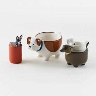 One Hundred 80 Degrees One Hundred 80 Degrees Ceramic Dog Measuring Cups set of 4