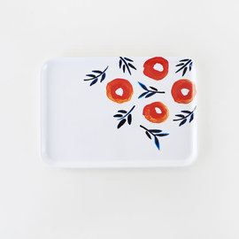 One Hundred 80 Degrees One Hundred 80 Degrees Spring Poppy Rectangular Melamine Tray 9x13 inch