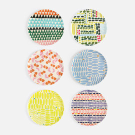 One Hundred 80 Degrees One Hundred 80 Degrees Patterned Melamine Plate 11 inch Assorted Sold Individually