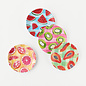 "One Hundred 80 Degrees One Hundred 80 Degrees Gingham Fruit Melamine ""Paper"" Plates set of 4 Assorted"