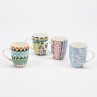 One Hundred 80 Degrees One Hundred 80 Degrees Patterned Porcelain Mug Assorted Sold Individually