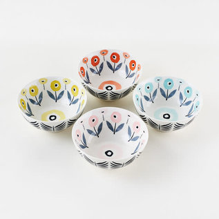 One Hundred 80 Degrees One Hundred 80 Degrees Spring Porcelain Floral Bowl Assorted Sold Individually