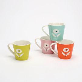 One Hundred 80 Degrees One Hundred 80 Degrees Spring Porcelain Poppy Mug Assorted Sold Individually