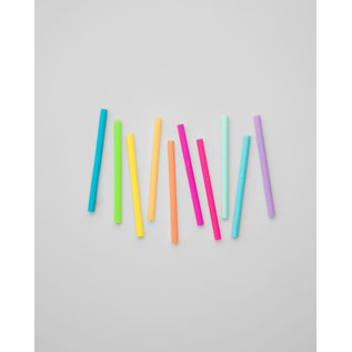 Get It Right Get It Right Kids Silicone Straw 10 pk Rainbow