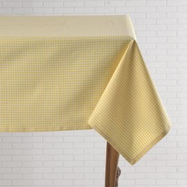 Mahogany USA Mahogany Gingham Yellow Tablecloth 60 in x 90 in