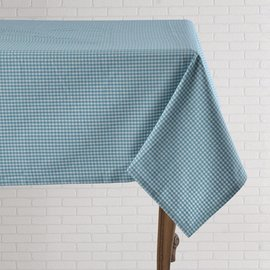Mahogany USA Mahogany Gingham Turquoise Tablecloth 60 in. x 60 in.
