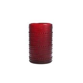 D&V Jupiter Red Ice Beverage Glass 13 oz