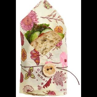 Bees Wrap Bee's Wrap SANDWICH Single Wrap Vegan Meadow Magic