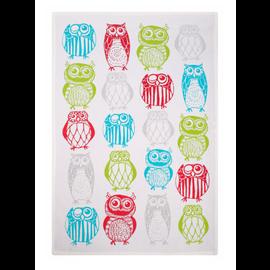 """MUkitchen MUkitchen Designer Cotton Towel 20"""" x 30"""" Happy Owls"""
