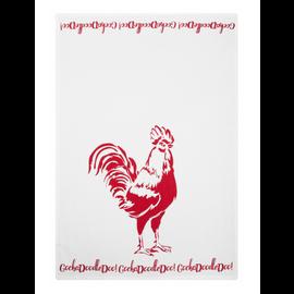 """MUkitchen MUkitchen Designer Cotton Towel 20"""" x 30"""" Red Rooster"""