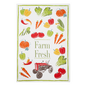 """MUkitchen MUkitchen Designer Cotton Towel 20"""" x 30"""" Farm Fresh"""