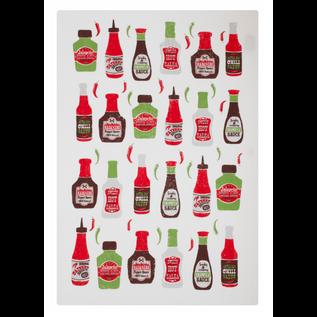 """MUkitchen MUkitchen Designer Cotton Towel 20"""" x 30"""" Hot Sauce"""