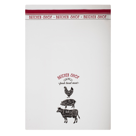 """MUkitchen MUkitchen Designer Cotton Towel 20"""" x 30"""" Butcher Shop"""