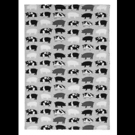 """MUkitchen MUkitchen Designer Cotton Towel 20"""" x 30"""" Pigs"""