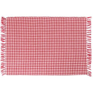 Mahogany USA Mahogany Gingham Red Ribbed Placemats 13 in x 19 in set of 4