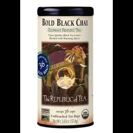 Republic of Tea The Republic of Tea Bold Black Chai Round Tea Bags 36 Serving Tin