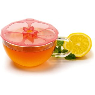 "Charles Viancin Charles Viancin Pink Hibiscus 4"" Drink Covers Set of 2"