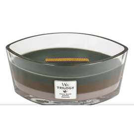 WoodWick Candle WoodWick Candle Ellipse Hearthwick Trilogy Cozy Cabin