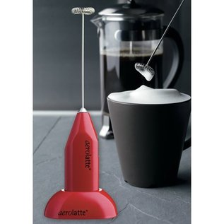 Harold Import Company Inc. HIC Aerolatte Milk Frother with Stand, Red