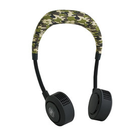 Time Concept, Inc. Time Concept Wfan Wearable Hands Free Fan Blade Free 2.1 Camouflage